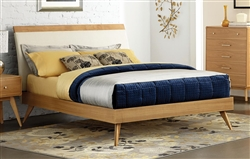 Anika Queen Bed in Light Ash by Home Elegance - HEL-1915-1