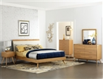 Anika 6 Piece Bedroom Set in Light Ash by Home Elegance - HEL-1915-1-4
