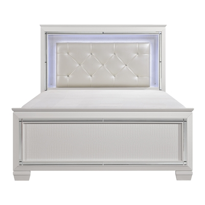 Allura Queen Bed in White by Home Elegance - HEL-1916W-1