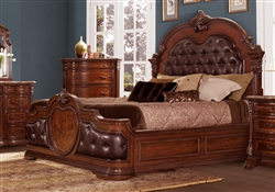 Antoinetta Queen Bed in Dark Brown by Home Elegance - HEL-1919-1