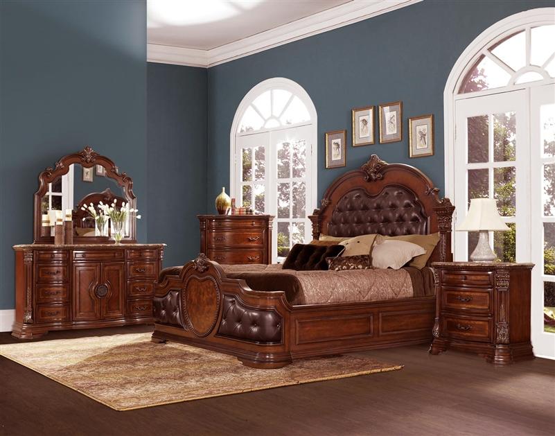 Antoinetta 6 Piece Bedroom Set in Dark Brown by Home Elegance ...