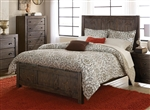 Farrin Queen Bed in Dark Rustic Pine by Home Elegance - HEL-1924-1