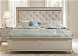 Celandine Queen Platform Bed in Silver by Home Elegance - HEL-1928-1