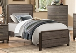 Vestavia Twin Bed in Dark Brown by Home Elegance - HEL-1936T-1