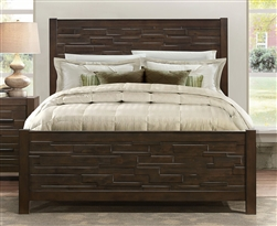 Bowers Queen Bed in Dark Brown by Home Elegance - HEL-1952-1