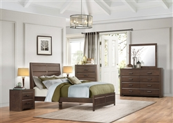 Erwan 6 Piece Bedroom Set in Rich Espresso by Home Elegance - HEL-1961-1-4