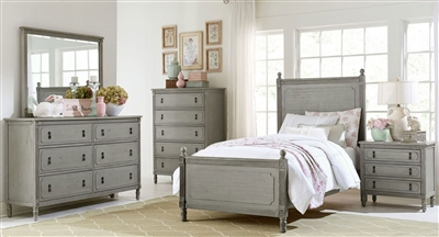 Aviana 4 Piece Youth Bedroom Set in Grey by Home Elegance - HEL-1977T-1-4