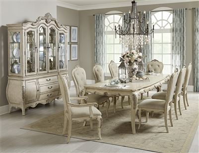 Elsmere 7 Piece Dining Set in Antique Gray by Home Elegance - HEL-1978W-112-7