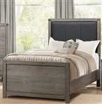 Woodrow Twin Bed in Black by Home Elegance - HEL-2042T-1