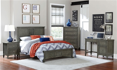 Garcia 4 Piece Youth Bedroom Set in Grey by Home Elegance - HEL-2046T-1-4