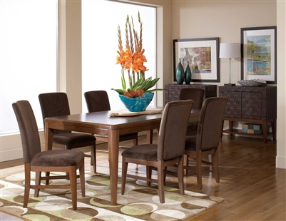 Beaumont 7 Piece Dining Set in Brown Cherry by Home Elegance - HEL-2111-72-7