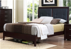 Edina Queen Bed in Brown Espresso by Home Elegance - HEL-2145-1