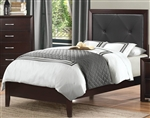 Edina Twin Bed in Brown Espresso by Home Elegance - HEL-2145T-1