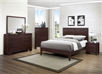 Kari 6 Piece Bedroom Set in Dark Merlot by Home Elegance - HEL-2146-1-4