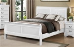Mayville Queen Sleigh Bed in White by Home Elegance - HEL-2147W-1