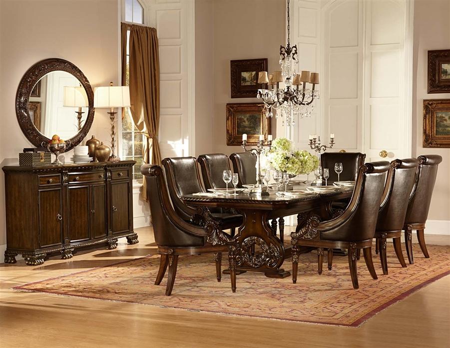 Orleans 7 Piece Dining Set In Rich Dark Cherry By Home Elegance Hel 2168 108