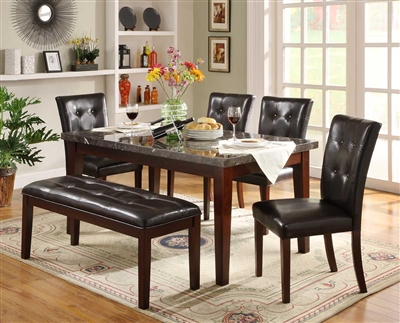 Decatur 5 Piece Dining Set in Espresso by Home Elegance - HEL-2456-64-5