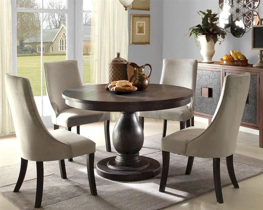 Dandelion 5 Piece Round Dining Set In, Elegant Round Dining Table