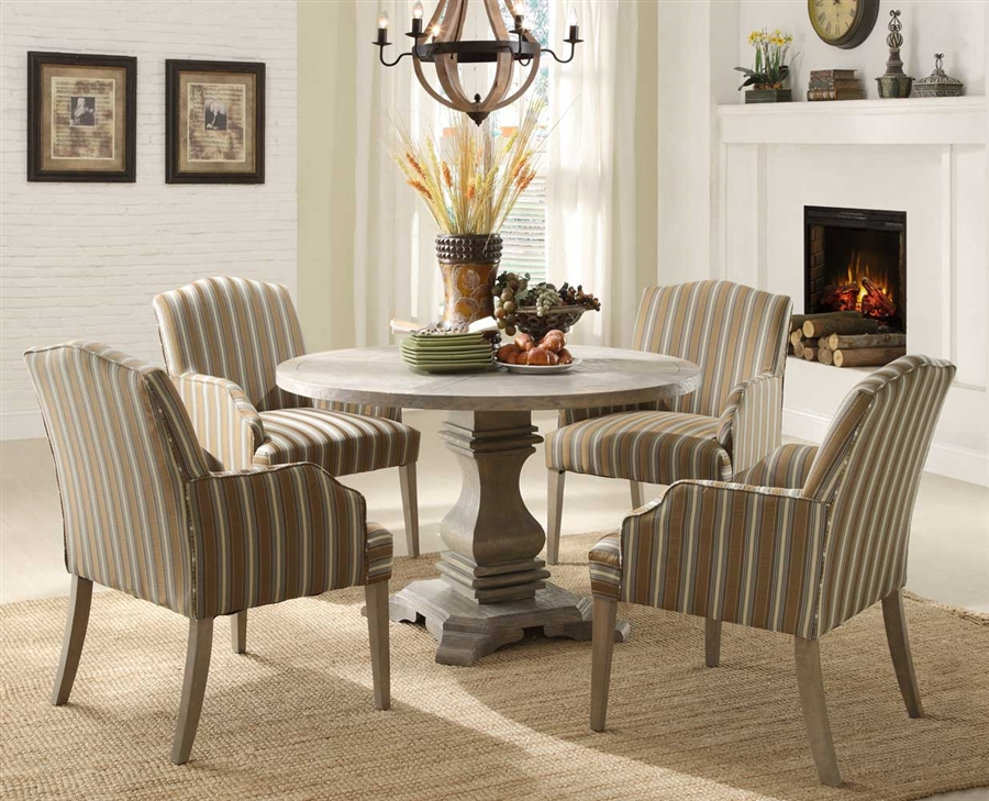 Euro Casual 5 Piece Round Dining Set in Rustic by Home Elegance