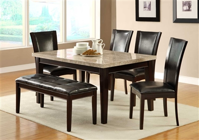 Hahn 5 Piece Dining Set in Espresso by Home Elegance - HEL-2529-64-5