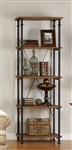 Factory Bookcase in Rustic Oak by Home Elegance - HEL-3228-12