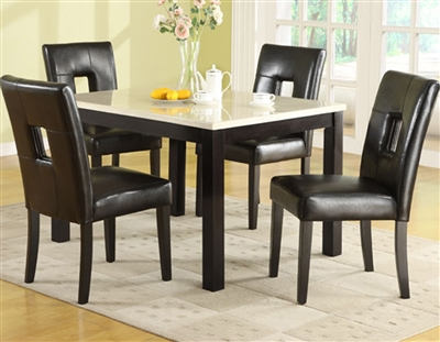 Archstone 5 Piece Dining Set in Black by Home Elegance - HEL-3270-48-5S1BK