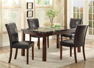 Belvedere II 5 Piece Dining Set in Espresso by Home Elegance - HEL-3276N-60-5