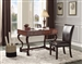 Maule Writing Desk with 3 Drawers in Cherry by Home Elegance - HEL-3501-15