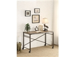 Themis Writing Desk with Functional Wheels in Brown by Home Elegance - HEL-3568-15