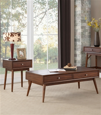 Frolic 2 Piece Occasional Table Set in Brown by Home Elegance - HEL-3590-30