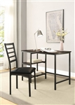 Madigan 2 Piece Home Office Set in Black by Home Elegance - HEL-4514-15