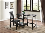 Daily 2 Piece Home Office Set in Black by Home Elegance - HEL-4694BK-15