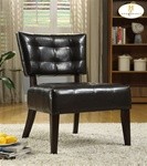 Warner Dark Brown Bi-Cast Accent Chair by Homelegance - 489DB