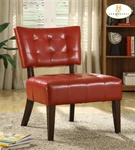 Warner Lava-Red Bi-Cast Accent Chair by Homelegance - 489RD