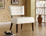 Warner White Bi-Cast Accent Chair by Homelegance - 489WT