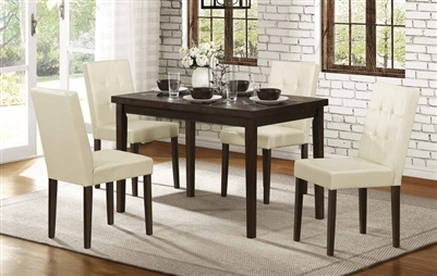 Ahmet 5 Piece Dining Set in Espresso by Home Elegance - HEL-5039-48-5