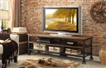 "Millwood 65"" TV Stand in Distressed Ash by Home Elegance - HEL-50990-T"