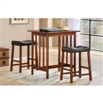 Scottsdale 3 Piece Counter Height Set in Cherry by Home Elegance - HEL-5310C