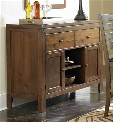 Eagleville Server in Warm Brown Cherry by Home Elegance - HEL-5346-40