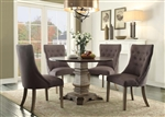 Anna Claire 5 Piece Round Dining Set in Driftwood by Home Elegance - HEL-5428-45RD-5S2