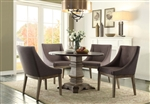 Anna Claire 5 Piece Round Dining Set in Driftwood by Home Elegance - HEL-5428-45RD-5S3