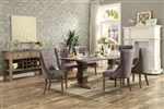 Anna Claire 7 Piece Round Dining Set in Driftwood by Home Elegance - HEL-5428-84-7S2