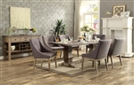 Anna Claire 7 Piece Round Dining Set in Driftwood by Home Elegance - HEL-5428-84-7S3