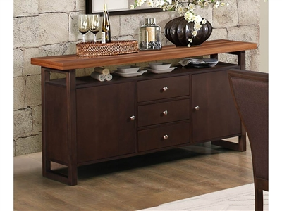 Compson Server in Walnut by Home Elegance - HEL-5431-40