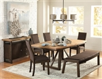 Compson 5 Piece Dining Set in Natural by Home Elegance - HEL-5431-77-5