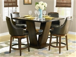 Bayshore 5 Piece Counter Height Dining Set in Oak by Home Elegance - HEL-5447-36-5