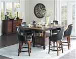 Bayshore 5 Piece Counter Height Dining Set in Burnished by Home Elegance - HEL-5447-36XL-5