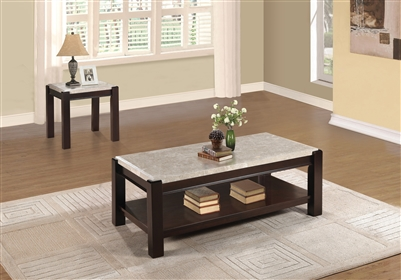 Festus 2 Piece Occasional Table Set in Dark Cherry by Home Elegance - HEL-5466-30