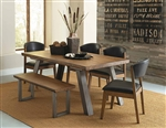 Hobson 5 Piece Dining Set in Natural by Home Elegance - HEL-5478-72-5