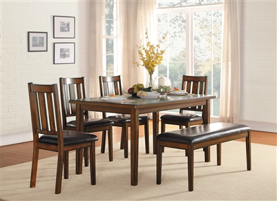 Delmar 6 Piece Dining Set in Burnished by Home Elegance - HEL-5511-6PK